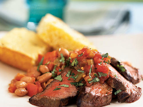 Southwestern Steak and Pinto Beans