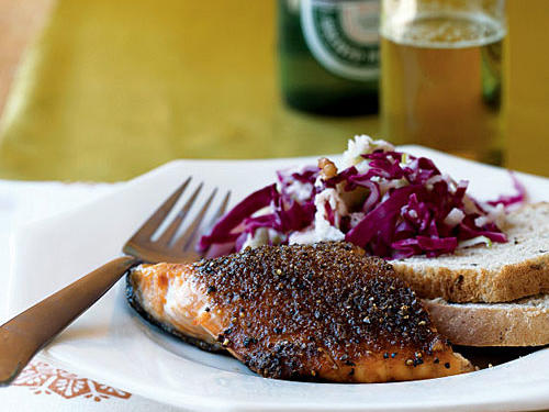 Grilled Pastrami-Style Salmon