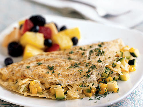 Omelet with Summer Vegetables