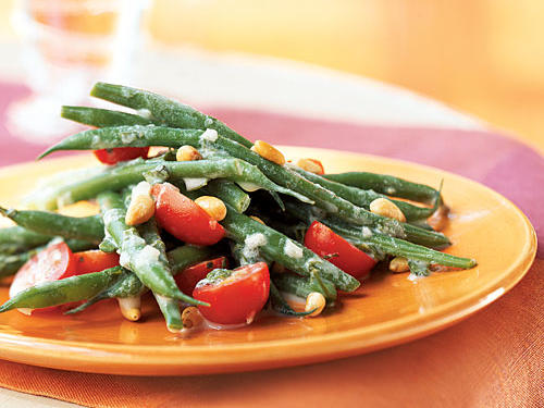 Haricots Verts and Grape Tomato Salad with Crme Frache Dressing