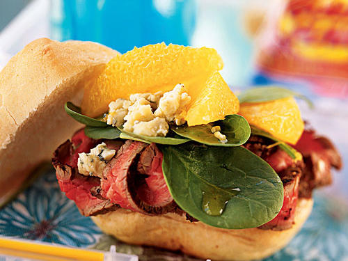 Beef, Orange, and Gorgonzola Sandwiches