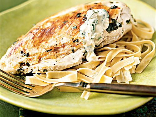 Lemon-Basil Chicken with Basil Aioli