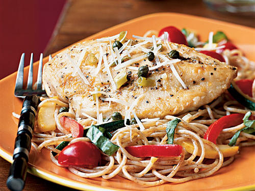 2005 Finalist: Chicken Piccata with Summer Vegetable Pasta