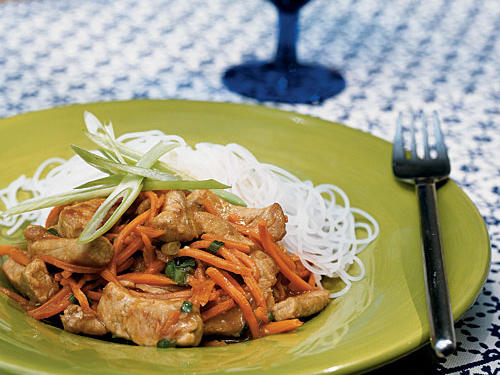 Orange Pork with Scallions
