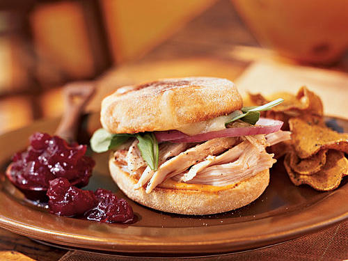 Toasted Turkey and Brie Sandwich
