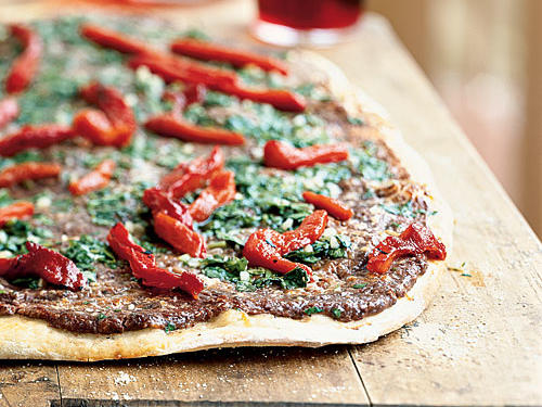 2006 Category Winner: Argentine Black Bean Flatbread with Chimichurri Drizzle