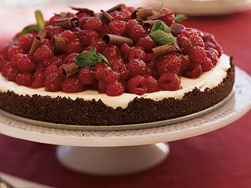 Chocolate Raspberry Tart with White Chocolate Cream