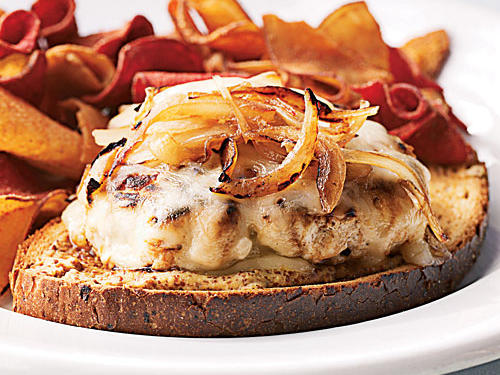Open-Faced Turkey Patty Melt