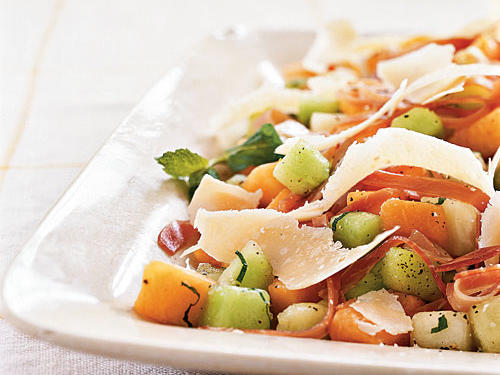 Melon and Prosciutto Salad with Parmigiano-Reggiano