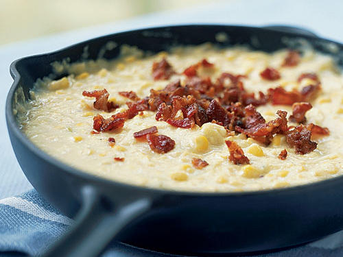 Creamed Corn with Bacon and Leeks