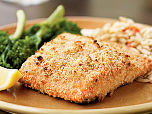 Almond-Crusted Salmon