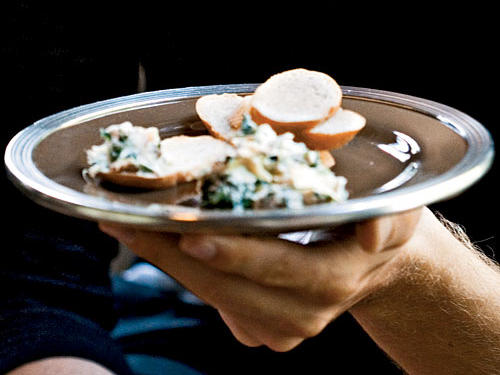 Spinach-Artichoke Dip with Bacon