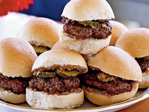 Healthy Burgers: Sliders with Shallot-Dijon Relish Recipes