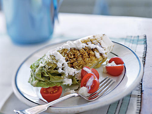 Healthy Grilled Romaine with Blue Cheese Dressing Recipe