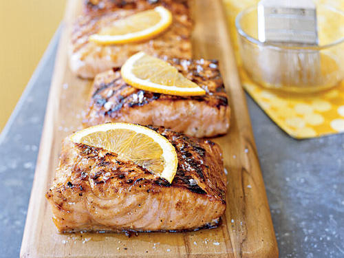 Healthy Marinade: Maple Grilled Salmon