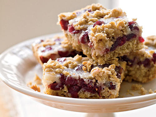 Cranberry-Oatmeal Bars Recipe