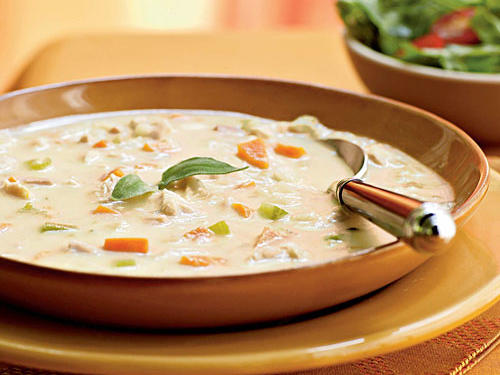 1311w Turkey and Potato Soup with Canadian Bacon