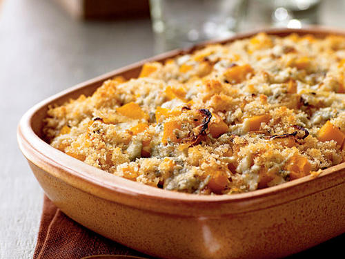 Butternut Squash Gratin with Blue Cheese and Sage Recipe
