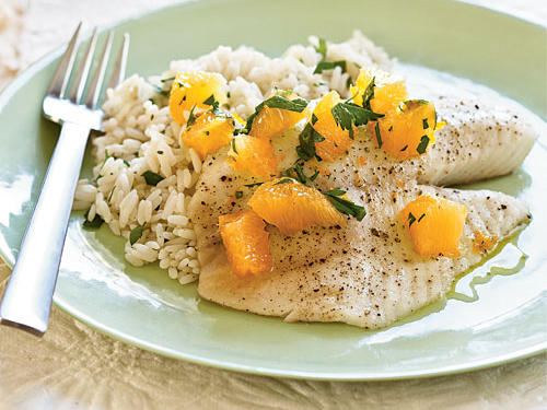 1304 Roasted Tilapia with Orange-Parsley Salsa