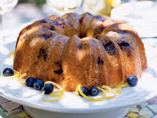 Glazed Lemon-Blueberry Poppy Seed Bundt Cake Recipe