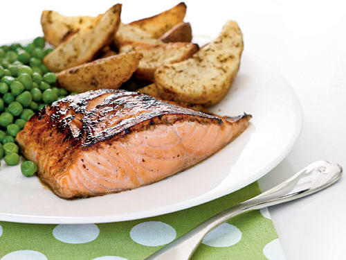 Salmon with Maple-Lemon Glaze Recipe