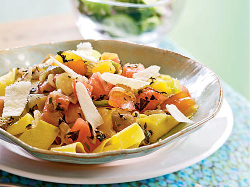 Heirloom Tomato and Herb Pappardelle