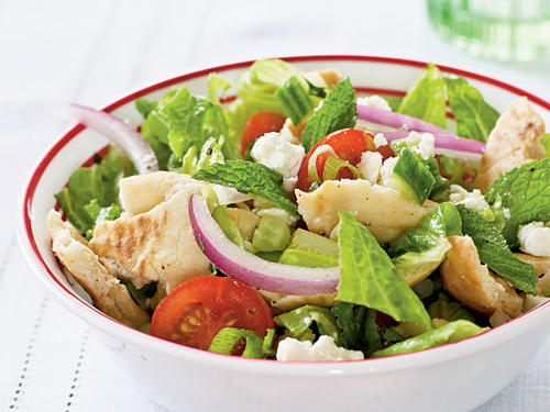 Pita Salad with Tomatoes, Cucumber and Herbs