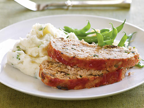 Spicy Turkey Meat Loaf with Ketchup Topping Healthy Recipe