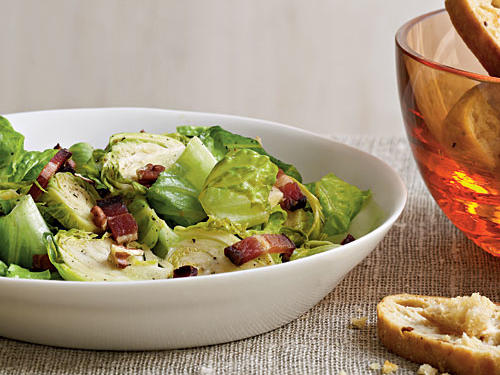 Brussels Sprouts with Warm Bacon Vinaigrette