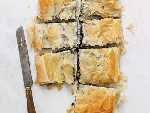 Spinach Pie with Goat Cheese, Raisins, and Pine Nuts Recipes