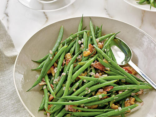 Haricots Verts with Warm Bacon Vinaigrette Recipes