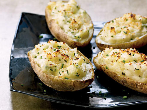Healthy Fontina-Stuffed Potato Skins Recipe
