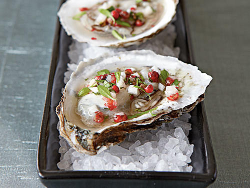 1301 Oysters with Pink Peppercorn Mignonette