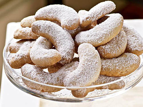 Viennese Almond Crescents