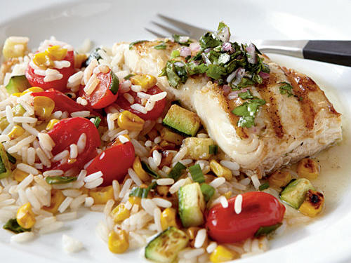 Healthy Dinner Recipe: Pan-Grilled Halibut with Chimichurri