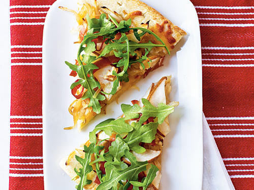 March: Pear and Prosciutto Pizza