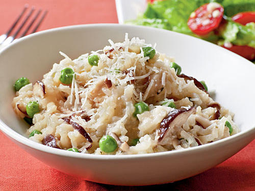 Shiitake and Sweet Pea Risotto