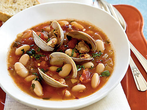 Steamed Clams Fagioli