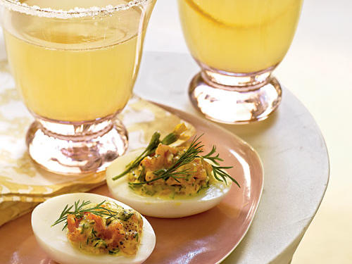 Deviled Eggs with Smoked Salmon and Herbs