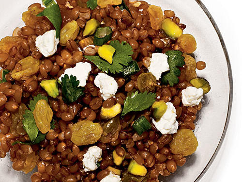 Wheat Berry Salad with Raisins and Pistachios  Recipe