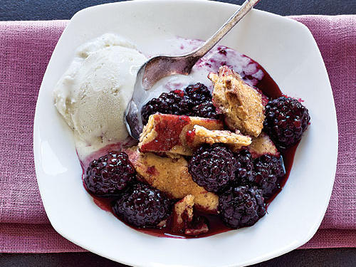 Lattice-Topped Blackberry Cobbler