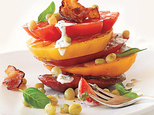 August: Hot and Hot Tomato Salad