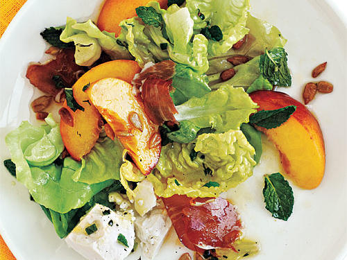 Prosciutto, Peach, and Sweet Lettuce Salad