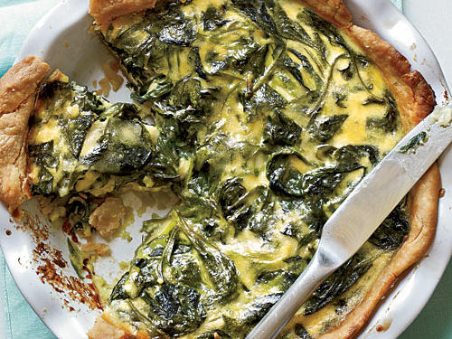 Spinach and Smoked Gouda Quiche