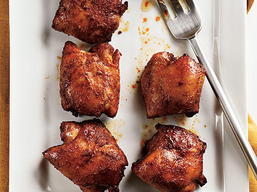 Spicy Honey-Brushed Chicken Thighs Recipe