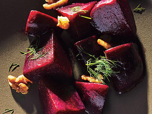 Beets with Dill and Walnuts
