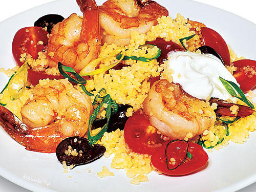 Quick Greek Couscous with Shrimp Recipes