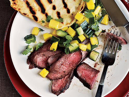 Grilled Steak with Fresh Mango Salsa