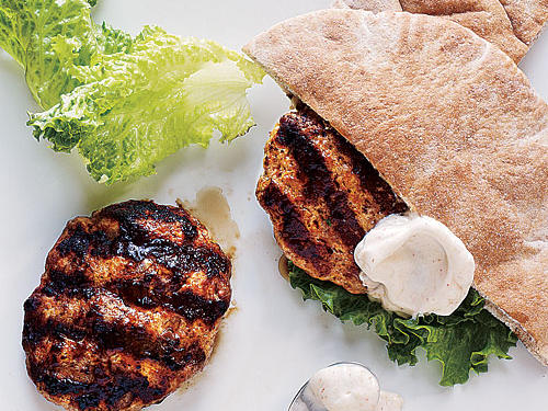 Healthy Lamb and Turkey Pita Burgers Recipe