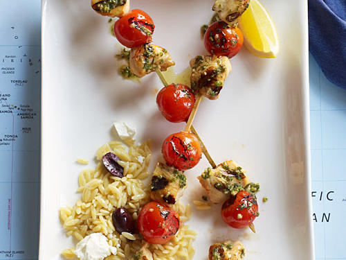 Greek-Style Skewers Recipe